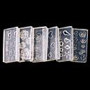 Χαμηλού Κόστους Μακιγιάζ και περιποίηση νυχιών-6 pcs Κοσμήματα νυχιών / 3D ακρυλικά καλούπια καρφιών Μοντέρνα Lovely Καθημερινά Σχεδίαση Νυχιών