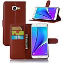 baratos Capinhas para Nokia-Capinha Para Samsung Galaxy Samsung Galaxy Capinhas Porta-Cartão / Com Suporte / Flip Capa Proteção Completa Sólido PU Leather para A3 (2017) / A5 (2017) / A7 (2017)