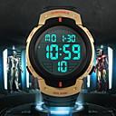 رخيصةأون ساعات الرجال-SKMEI رجالي ساعة رياضية ساعة المعصم ساعة رقمية رقمي مطاط أسود 30 m مقاوم للماء المنبه رزنامه رقمي أزرق أخضر الصيد ذهبي / الكرونوغراف / LCD
