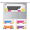 hesapli Mac Klavye Kılıfları-MacBook hava 13.3 için renkli şeker tasarım silikon klavye kapağı deri, retina 13 15 17 bize düzeni ile macbook pro