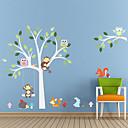 hesapli Dekorasyon Etiketleri-Manzara Hayvanlar Romantizm Moda Şekiller Tatil Karton Fantezi Botanik Duvar Etiketler Uçak Duvar Çıkartmaları Dekoratif Duvar