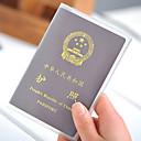 abordables Accesorios de Viaje-1 pieza Billetera y Cartera Cubierta para Pasaporte Impermeable A prueba de polvo Muy ligero Portable para Almacenamiento para Viaje PVC