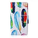 preiswerte Galaxy Note Serie Hüllen / Cover-Hülle Für Samsung Galaxy Samsung Galaxy Hülle Kreditkartenfächer mit Halterung Flipbare Hülle Magnetisch Muster Ganzkörper-Gehäuse Feder