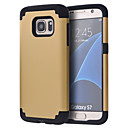 cheap Galaxy S Series Cases / Covers-Case For Samsung Galaxy Samsung Galaxy S7 Edge Shockproof Bumper Solid Color PC for S8 S8 Edge S7 edge plus S7 edge S7