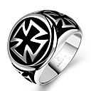 cheap Rings-Men's Statement Ring - Stainless Steel Cross Unique Design, Fashion 8 / 9 / 10 / 11 For Christmas Gifts