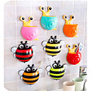 cheap Kitchen Utensils & Gadgets-Creative Cartoon Animal Sucker Toothbrush Holder Bathroom Products Accessories Wall Mount Stand For Toothpaste Spinbrush Holder