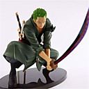 cheap Smart Lights-Anime Action Figures Inspired by One Piece Roronoa Zoro Engineering Plastics 18 cm CM Model Toys Doll Toy Men's Boys' Girls'