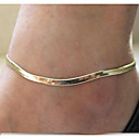 Недорогие Браслеты-Ножной браслет - Мода Серебряный / Золотой Назначение Повседневные Жен.