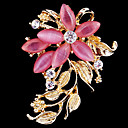 cheap Brooches-Women's Brooches - Crystal, Cubic Zirconia, Opal Flower Ladies, Party, Work, Casual, Fashion Brooch Jewelry Pink For Wedding / Party / Special Occasion / Anniversary / Birthday