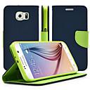 ieftine Carcase / Huse Galaxy Note Series-Maska Pentru Samsung Galaxy Samsung Galaxy Note Cu Stand Întoarce Carcasă Telefon Culoare solidă PU piele pentru Note 5 Note 4 Note 3