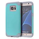 Недорогие Чехлы и кейсы для Galaxy S4 Mini-Кейс для Назначение SSamsung Galaxy S7 edge / S7 Защита от удара Кейс на заднюю панель Однотонный ПК