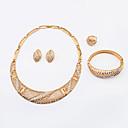 hesapli Takı Setleri-Kadın's Takı Seti - Yapay Elmas Avrupa, Moda Dahil etmek Altın Uyumluluk Düğün Parti Günlük / Yüzükler / Kolczyki / Kolyeler / Bilezik