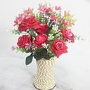 tanie Dekoracja biura-Sztuczne Kwiaty 1 Gałąź Fason europejski Storczyki / Roses Bukiety na stół