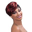 hesapli Makyaj ve Tırnak Bakımı-Sentetik Peruklar Kadın's Düz Kırmızı Sentetik Saç 6 inç Kırmızı Peruk Şort Bonesiz Kırmzı hairjoy