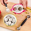 cheap Cooking Tools & Utensils-Ice Cream Double Scoop Spoon Melon Baller Cutter Fruit Kitchen Tools
