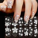 preiswerte Make-up & Nagelpflege-16 pcs 3D Nails Nagelaufkleber Spitze-Aufkleber Nagel Kunst Maniküre Pediküre Blume / Modisch Alltag / PVC