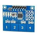 preiswerte Sensoren-kapazitive Touch-Switch-Modul digital ttp224 4-Wege-Touch-Sensor für Arduino