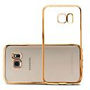 preiswerte Bekleidung & Accessoires für Hunde-Hülle Für Samsung Galaxy Samsung Galaxy S7 Edge Beschichtung / Ultra dünn / Transparent Rückseite Solide TPU für S7 edge / S7 / S6 edge