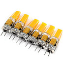 hesapli Aksesuarlar-6pcs 2W 200 lm G4 LED Bi-pin Işıklar MR11 1 led COB Dekorotif Sıcak Beyaz Serin Beyaz AC 12V DC 12V