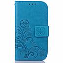 economico Custodie / cover per Galaxy serie S-Custodia Per Samsung Galaxy Samsung Galaxy S7 Edge A portafoglio / Porta-carte di credito / Con supporto Integrale Fiore decorativo pelle sintetica per S7 edge / S7 / S6 edge plus