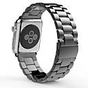 hesapli Apple Watch Ekran Koruyucuları-Watch Band için Apple Watch Series 3 / 2 / 1 Apple kelebek Toka Paslanmaz Çelik Bilek Askısı