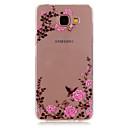 저렴한 갤럭시 A 시리즈 케이스 / 커버-케이스 제품 Samsung Galaxy 삼성 갤럭시 케이스 크리스탈 투명 패턴 뒷면 커버 꽃장식 TPU 용 A5(2016) A3(2016)