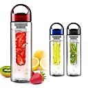 preiswerte Ohrringe-Frucht infundieren infuser Shaker Wasser Flasche Tasse Zitrone Erdbeer Saft auslaufsichere Trommel Flasche Tasse 700ml