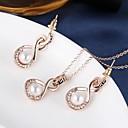 hesapli Yüzükler-Mücevher Kolyeler / Kolczyki Kolye / Küpe İmitasyon İnci Düğün / Parti / Günlük 1set Kadın Altın Düğün Hediyeleri
