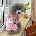 hesapli Köpek Giyim ve Aksesuarları-Kedi Köpek Kapüşonlu Giyecekler Tulumlar Pijamalar Köpek Giyimi Yuvarlak Noktalı Siyah Pembe Polar Kumaş Kostüm Evcil hayvanlar için