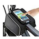 hesapli Bisiklet Çantaları-ROSWHEEL Cep Telefonu Çanta / Bisiklet Çerçeve Çantaları 5 inç Dokunmatik Ekran Bisiklet için iPhone 8/7/6S/6 Siyah / Su Geçirmez Fermuar