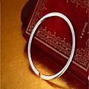 hesapli Bilezikler-Kadın's Halhallar - Som Gümüş Moda Bilezikler Gümüş Uyumluluk