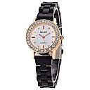 preiswerte Damenuhren-Damen damas Modeuhr Simulierter Diamant Uhr Quartz Armbanduhren für den Alltag Legierung Band Analog Schwarz / Weiß - Weiß Schwarz