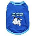cheap Cooking Tools & Utensils-Cat Dog Shirt / T-Shirt Dog Clothes Animal Blue Cotton Costume For Pets Men's Women's Fashion