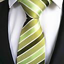hesapli Erkek Kravatları ve Papyonları-Erkek Moda Sarı Yeşil Kumaş Tie Bar