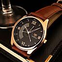 ieftine Ceasuri Bărbați-YAZOLE Bărbați Ceas de Mână Quartz Piele Negru / Maro Ceas Casual Analog Charm Clasic Ceas Elegant extravagant - Negru Maro Un an Durată de Viaţă Baterie / SSUO 377