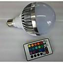 hesapli LED Küre Ampuller-700-900 lm E26 / E27 LED Küre Ampuller G80 1 LED Boncuklar Yüksek Güçlü LED Uzaktan Kumandalı RGB 85-265 V / 1 parça