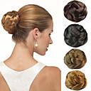 ieftine Machiaj & Îngrijire Unghii-nunta de mireasa updo chignon clipuri cocuri sintetice extensii de păr drept mai multe culori