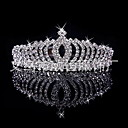preiswerte Ohrringe-Damen / Mädchen Hochzeit / Brautkleidung, versilbert / Aleación Krone