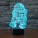 hesapli Yenilikçi LED Işıklar-robot dokunmatik karartma 3d led gece ışık 7colorful dekorasyon atmosfer lamba yenilik aydınlatma ışık
