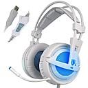 זול אביזרים ל-PS4-SADES A6 מעל האוזן / רצועת ראש חוטי אוזניות דִינָמִי פלסטי גיימינג אֹזְנִיָה בידוד רעש / עם מיקרופון / עם בקרת עוצמת הקול אוזניות