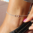 cheap Body Jewelry-Anklet - Infinity Unique Design, Fashion Silver For Christmas Gifts Party Daily Women's