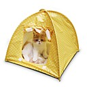 저렴한 강아지 의류 & 악세사리-고양이 침대 애완동물 매트&패드 포카닷 텐트 캐쥬얼/데일리 옐로우 그린 핑크