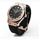 cheap Men's Watches-Women's Couple's Unisex Fashion Watch Wrist Watch Quartz 30 m / Rubber Band Analog Casual Black - Black Silver Rose Gold
