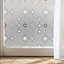 hesapli Dekorasyon Etiketleri-Geometrik Çağdaş Pencere Filmi, PVC/winyl Malzeme pencere Dekorasyonu Yemek Odası Yatakodası Ofis Çocuk Odası Oturma Odası Banyo Dükkanı