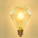 hesapli LED Küre Ampuller-1pc 4 W 350 lm E26 / E27 LED Filaman Ampuller G95 4 LED Boncuklar COB Dekorotif Sıcak Beyaz 220-240 V / 1 parça / RoHs