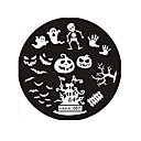 cheap Makeup & Nail Care-halloween design round stainless steel nail plates