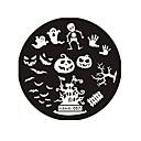 hesapli Makyaj ve Tırnak Bakımı-1 pcs Damgalama Plakası şablon tırnak sanatı Manikür pedikür Moda Günlük / damgalama Plaka / Çelik