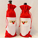 cheap Home Decoration-1 Pieces Of red Wine Bottle Cover to Santa Claus Christmas Dinner Table Decoration Home Party