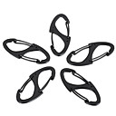 cheap Carabiners-Multitools Buckle Durable Convenient Pocket Hiking Camping Travel Indoor Outdoor Alloy cm 5 pcs