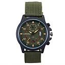 ieftine Brățări-Bărbați Ceas de Mână Quartz Digital Negru Calendar Analog Charm - Negru Maro Verde / Oțel inoxidabil